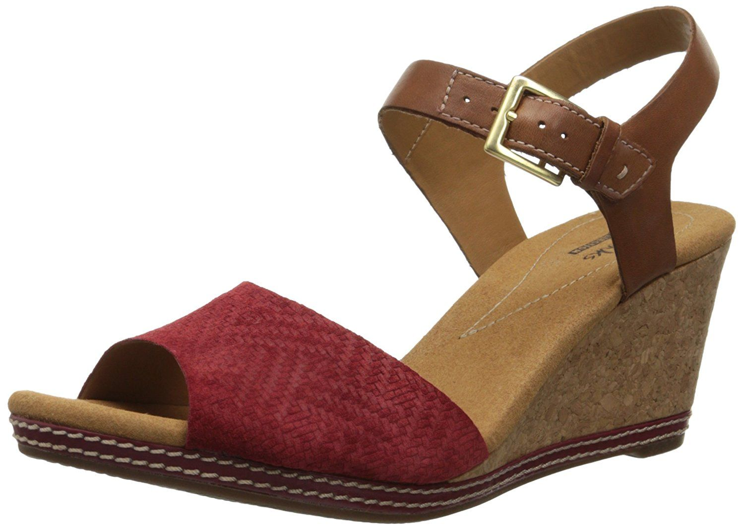 28f2b6c9f77c00 Clarks Women s Helio Jet Wedge Sandal     Quickly view this special  product