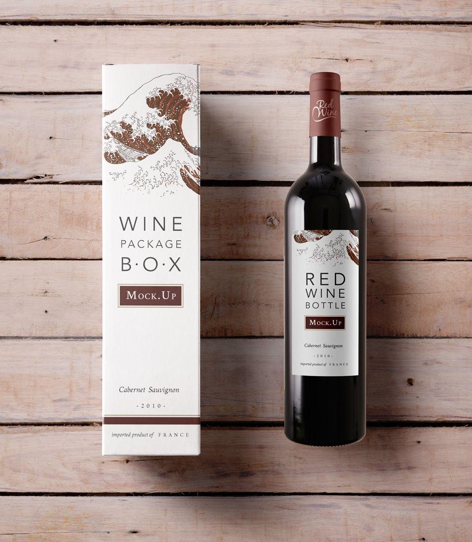 Download Psd Wine Box Mockup Vol2 Psd Mock Up Templates Wine Packaging Design Wine Packaging Wine Bottle Label Template