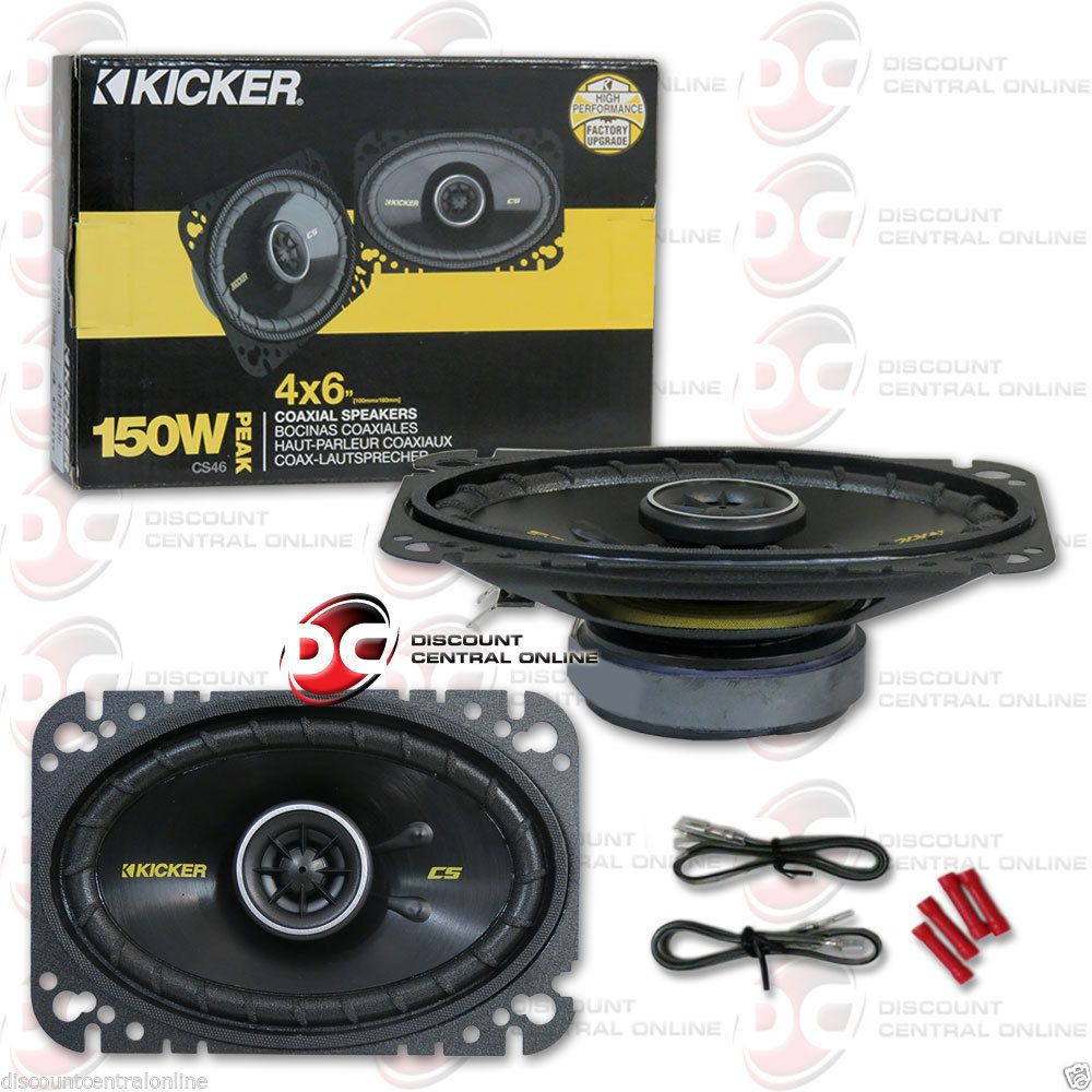 Car Speakers And Speaker Systems New Kicker 40cs464 4 X 6 Inch 4 X 6 2 Way Car Audio Coaxial Speakers Pair Buy It N Car Speakers Speaker System Car Audio