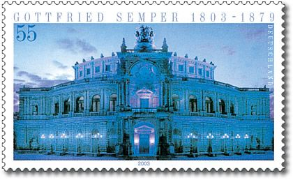 Stamp Germany 2003 MiNr2371 Gottfried Semper.jpg