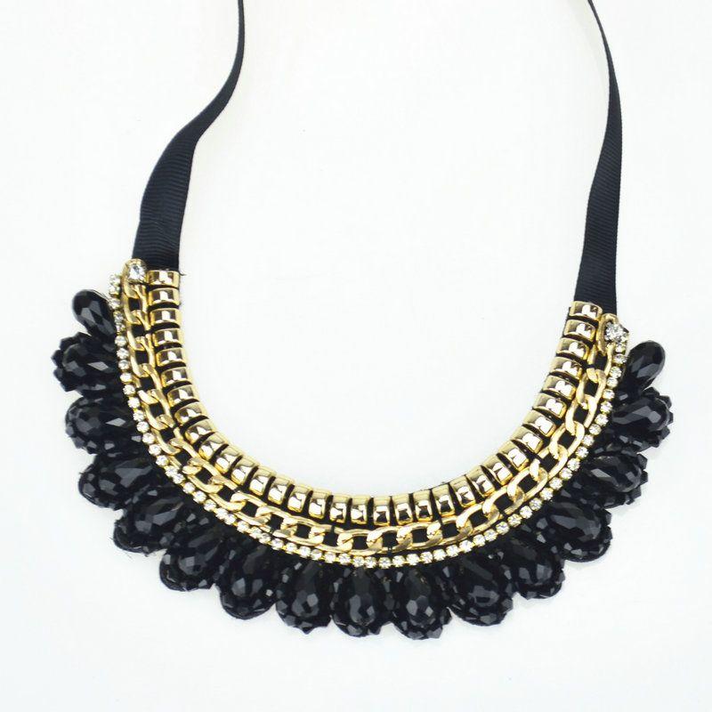 Trendy Donne statement Necklace & Tre colori opzionale goccioline di acqua della collana del collare handmade & Elegant style accessori Abito