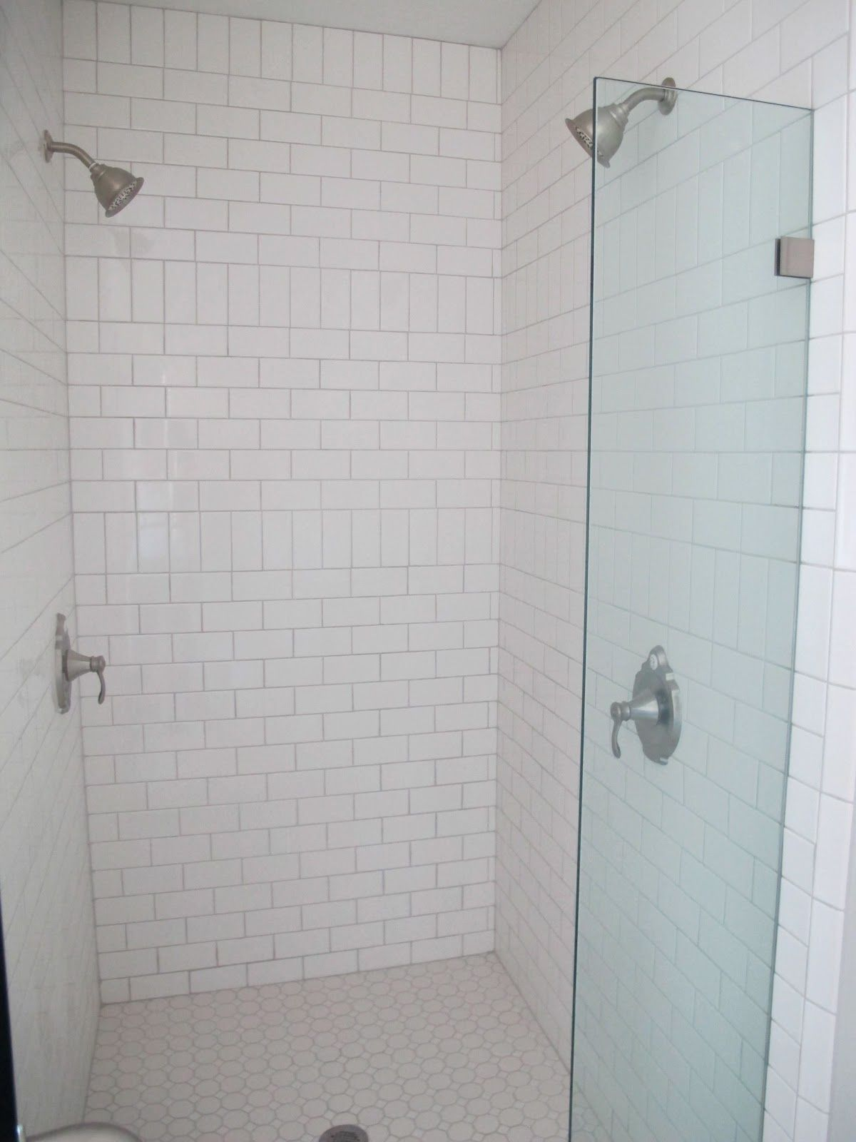 White Gold Before Afters C Street Project Ii White Subway Tile Shower Subway Tile Showers Subway Tiles Bathroom