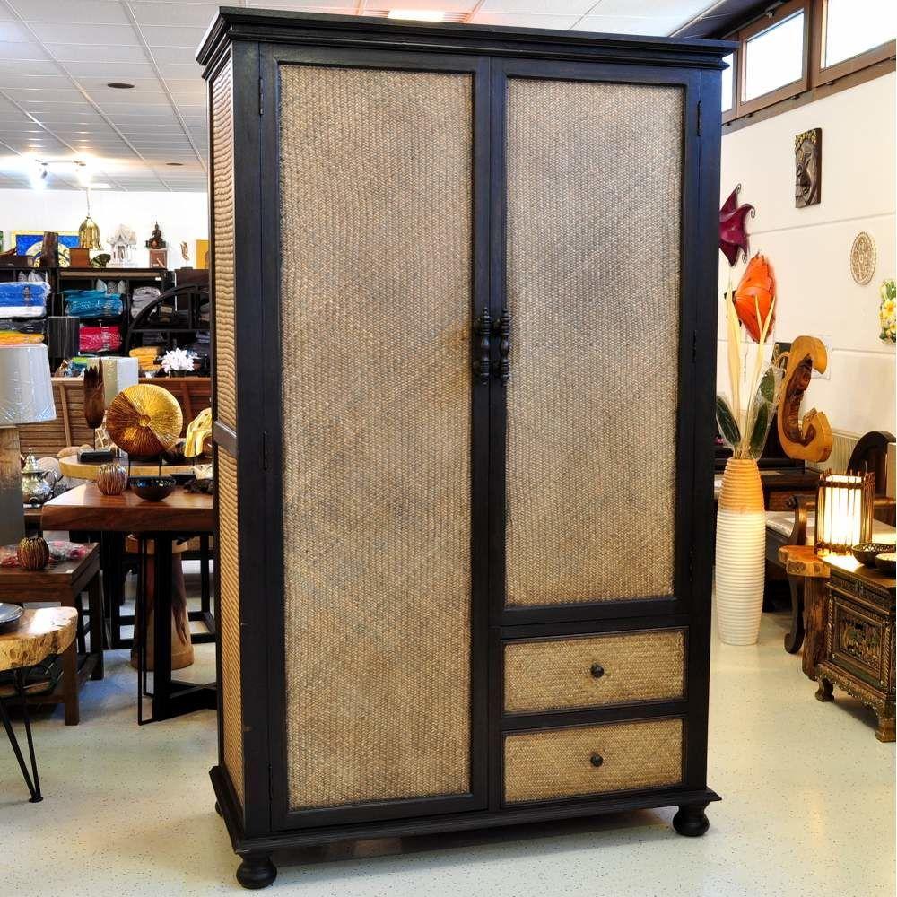 Schoner Kleiderschrank Mit Schubladen Aus Bambus Und Massivholz