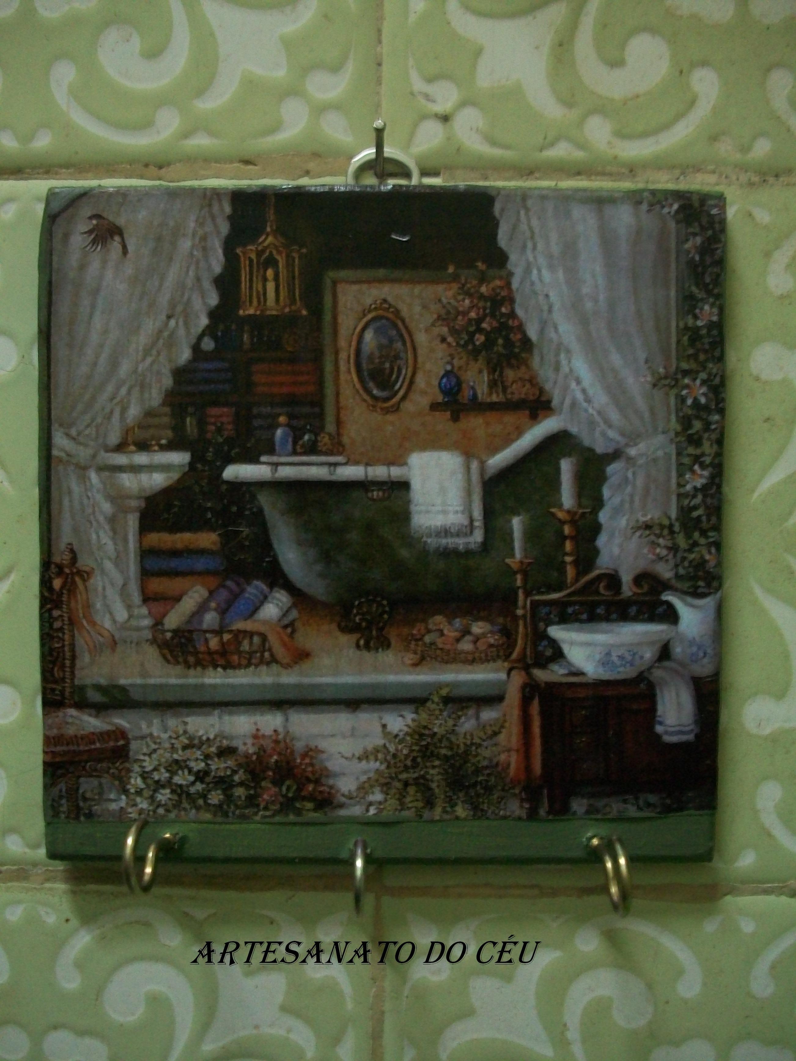 Plaquinha Banheiro - 14x14 - R$10,00 + frete