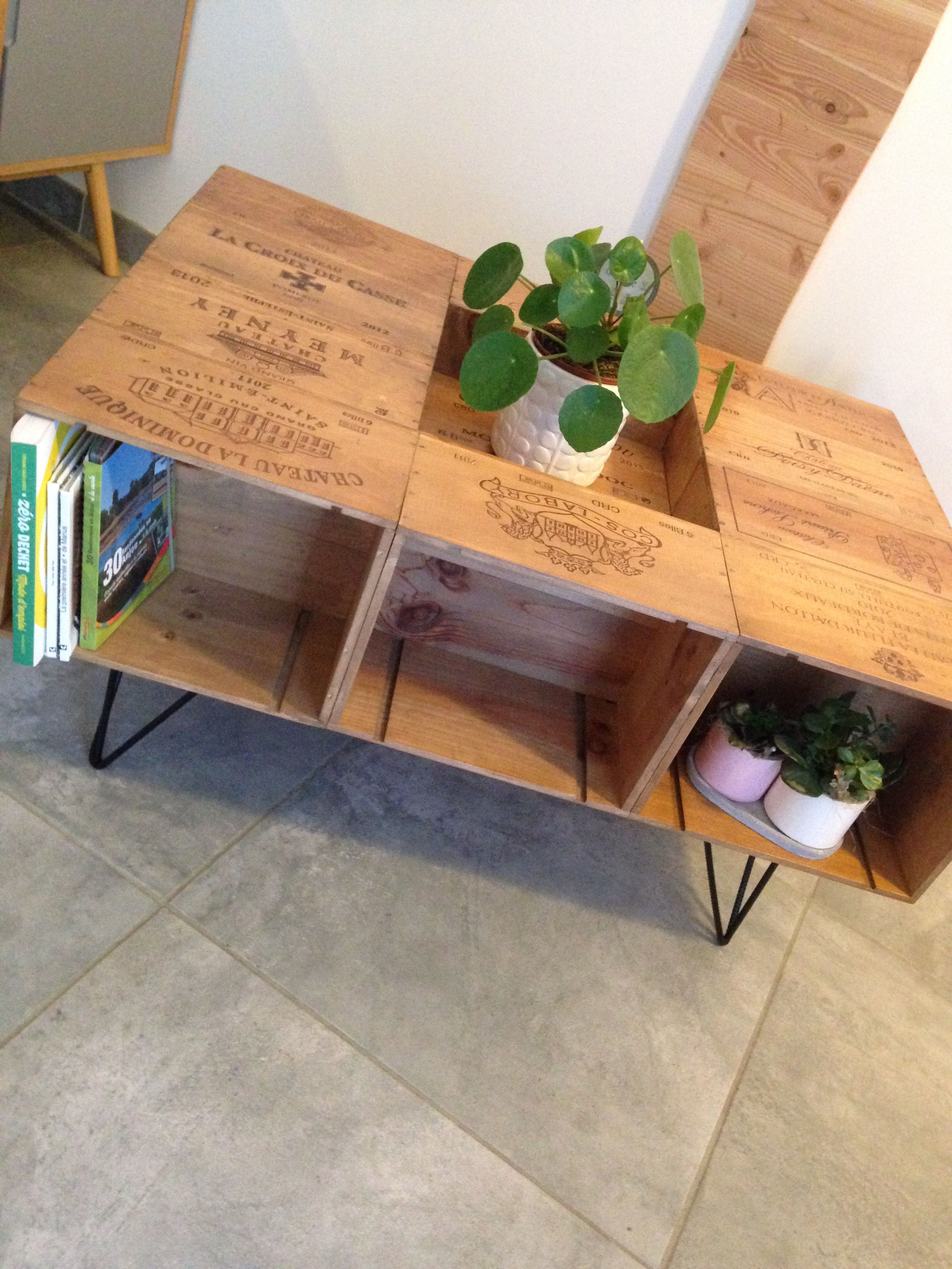 table basse caisse vin mes id es mes r alisations. Black Bedroom Furniture Sets. Home Design Ideas