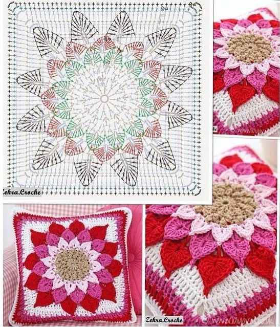 Patrón #1699: Cojín Estrella a Crochet ~ CTejidas [Crochet y Dos ...