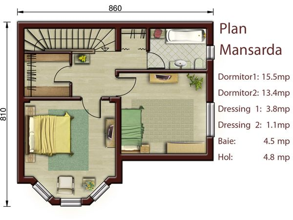 proiecte de case mici cu doua dormitoare two bedroom small house plans 5 - Small Homes Plans
