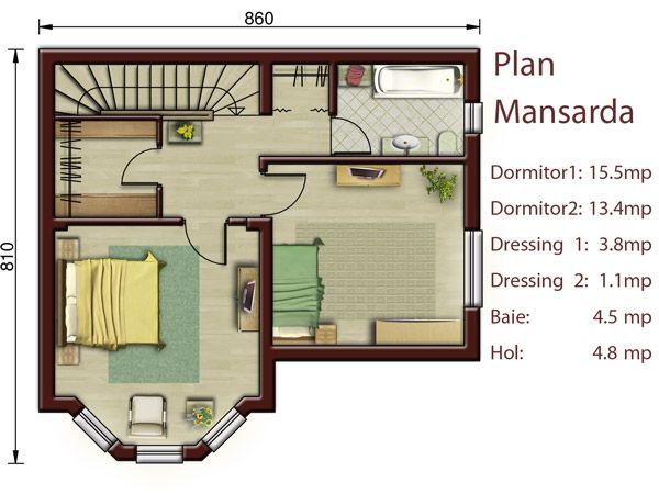Proiecte De Case Mici Cu Doua Dormitoare Two Bedroom Small House Plans 5
