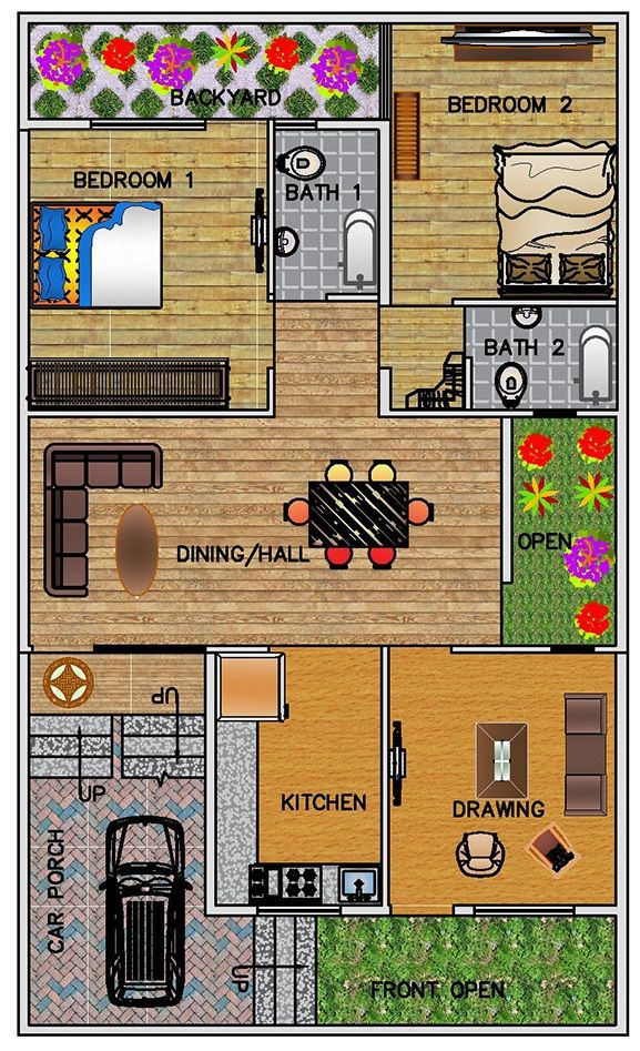 Pin By Arbaz Sheikh On Er Indian House Plans One Level House Plans My House Plans