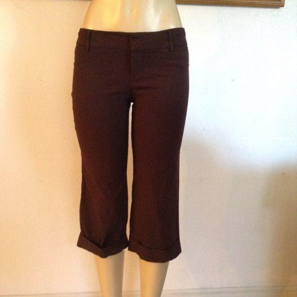 Brown Capri Dress Pants! Brown Capri Dress Pants! Size: 7 Rampage Pants