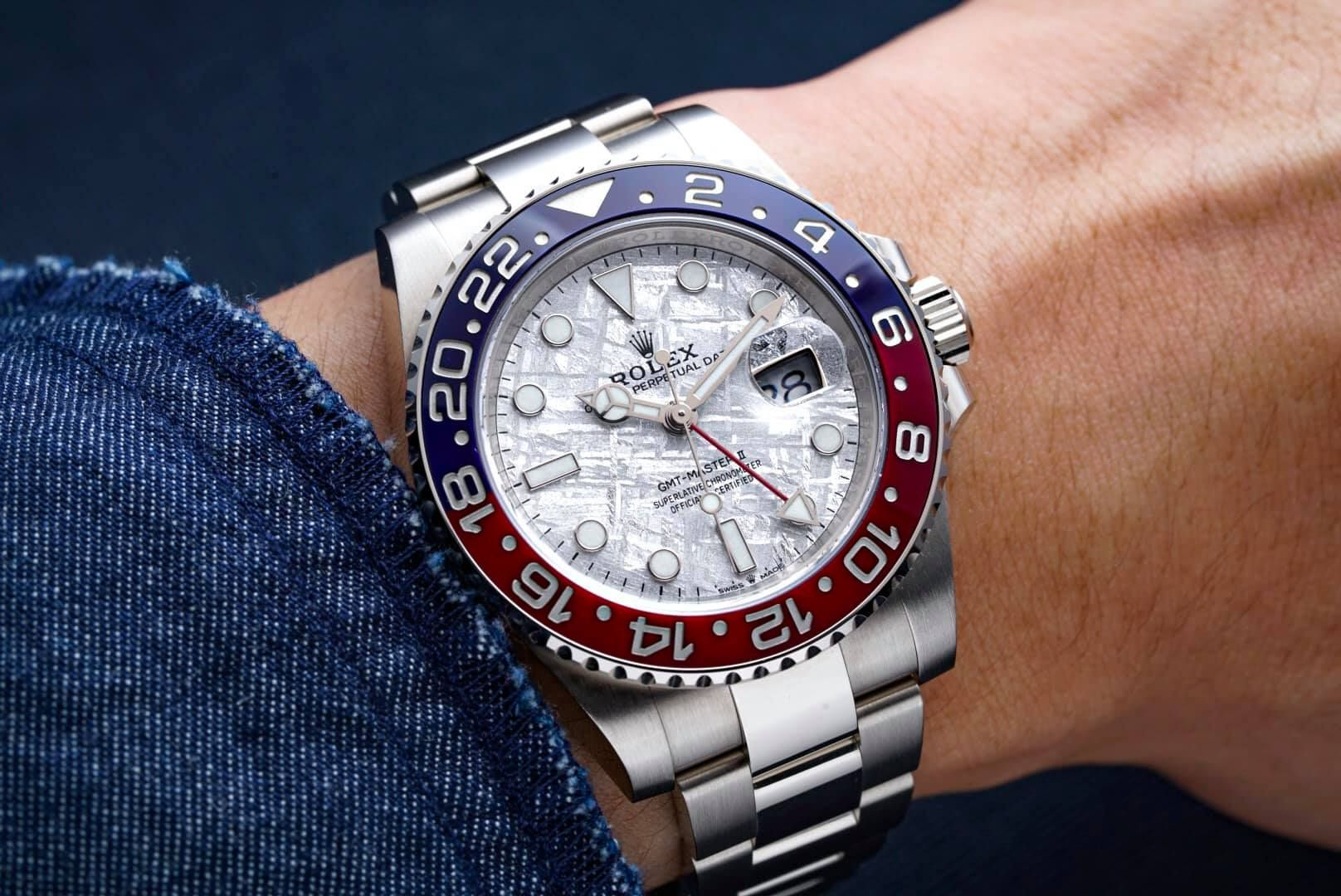 Rolex [NEW] GMT-Master II 126719BLRO Meteorite Dial Watch | Luxury watches for men, Watches for men, Rolex gmt master ii