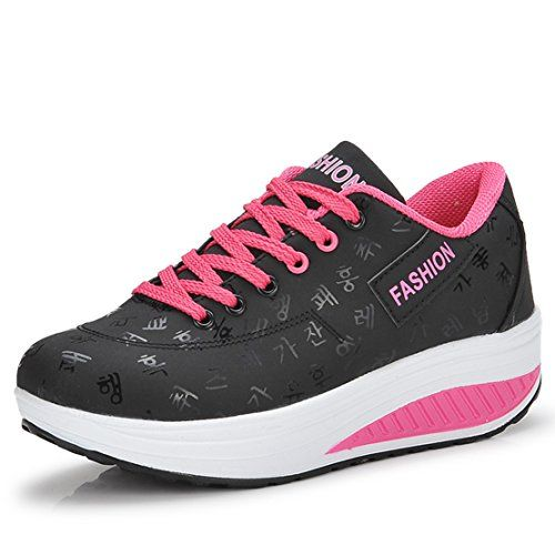 Ladies Athletic Shoes Fashion Sneakers Girls PE Sneakers Women Fitness Shake shoes EUR39 Black * Check out this great image