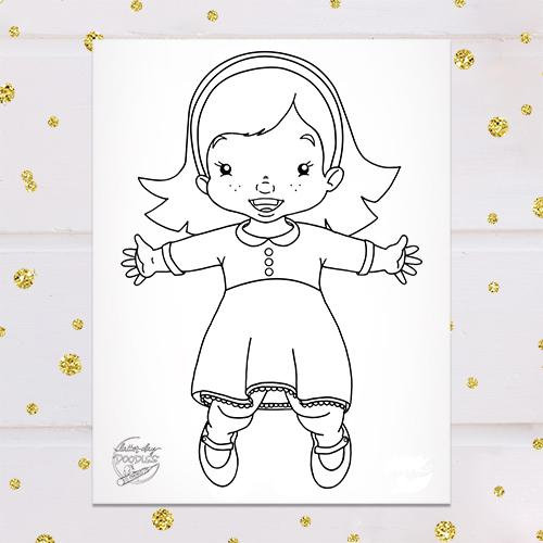 Jumping Sunbeam Girl Coloring Page Coloring Pages For Girls