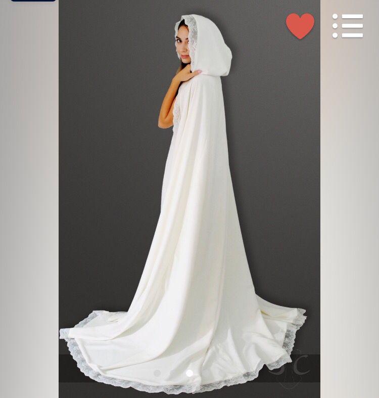 Full white wedding cloak