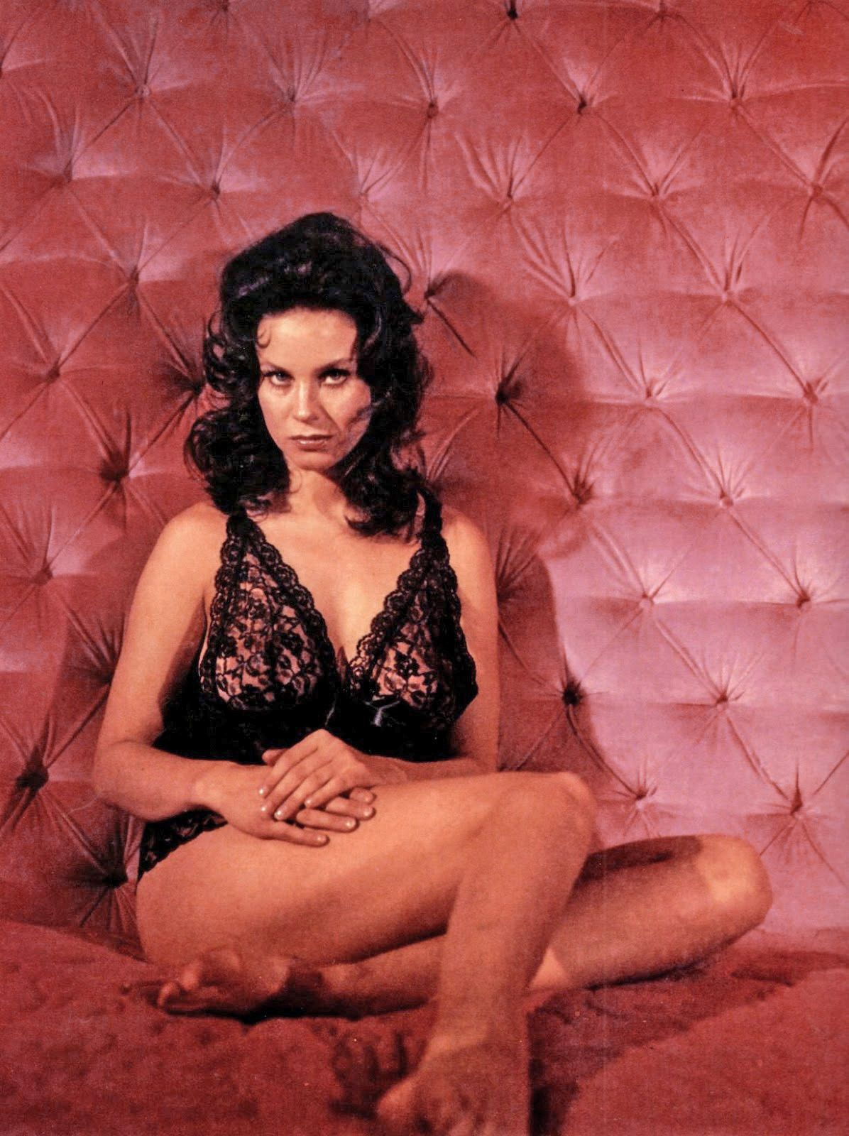 Lana Wood wearing lingerie, as she appears in the James ...