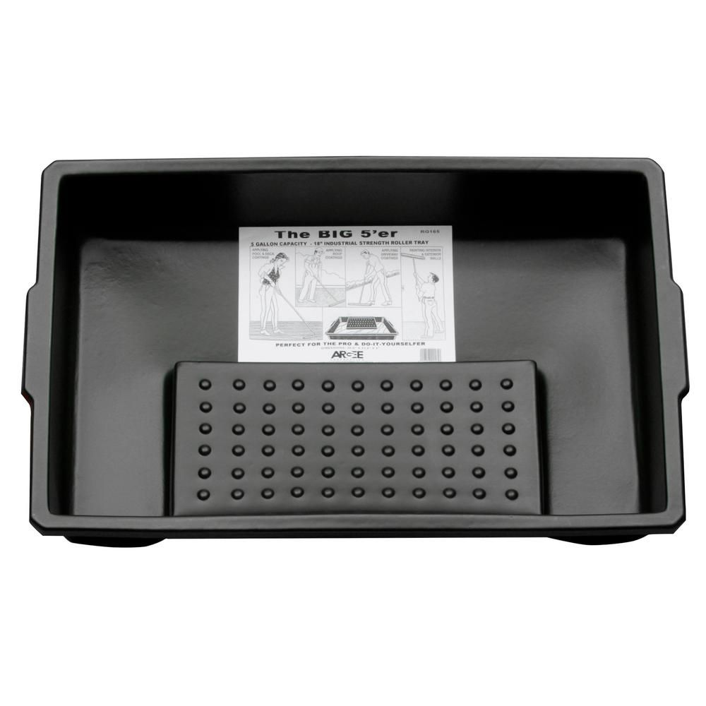 Argee 5 Gal Capacity 18 In Roller Tray Rg165 1 Tray Painted Trays Plastic Trays