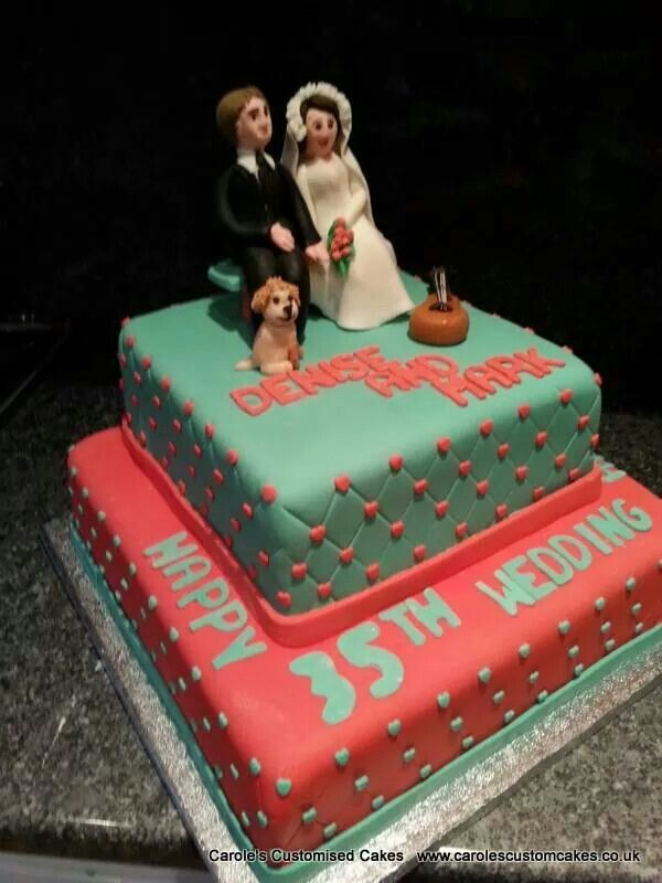 C And Jade 35th Wedding Anniversary Celebration Cake