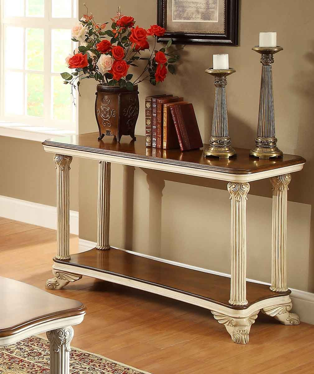 Homelegance casanova ii sofa table antique white price 45400 homelegance casanova ii sofa table antique white price 45400 traditional geotapseo Gallery