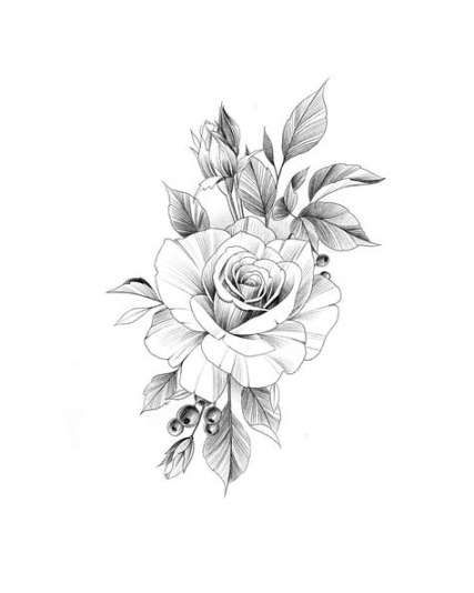 New Flowers Tattoo Sketch Geometric 35 Ideas Tattoos Rose Tattoos Flower Tattoo
