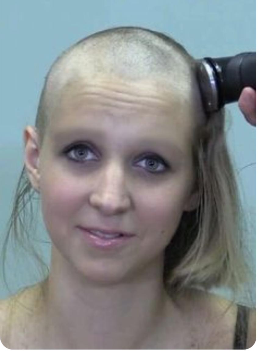 Shaved head fetish