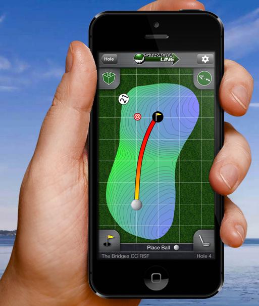 Golf Tip for reading greens. Stracka Line App Stracka
