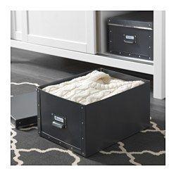 FJÄLLA Kannellinen laatikko, tummanharmaa - 27x36x20 cm - tummanharmaa - IKEA