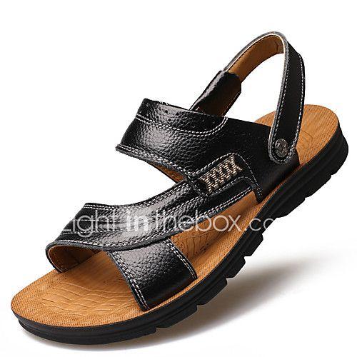 09a9bdc09 Hombre Zapatos Cuero Primavera Verano Otoño Confort Suelas con luz Botas de Moda  Sandalias Volantes Para