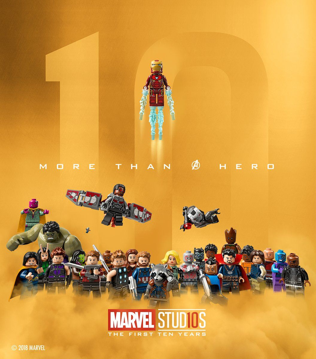 Marvel Studios 10th Anniversary in LEGO Lego poster