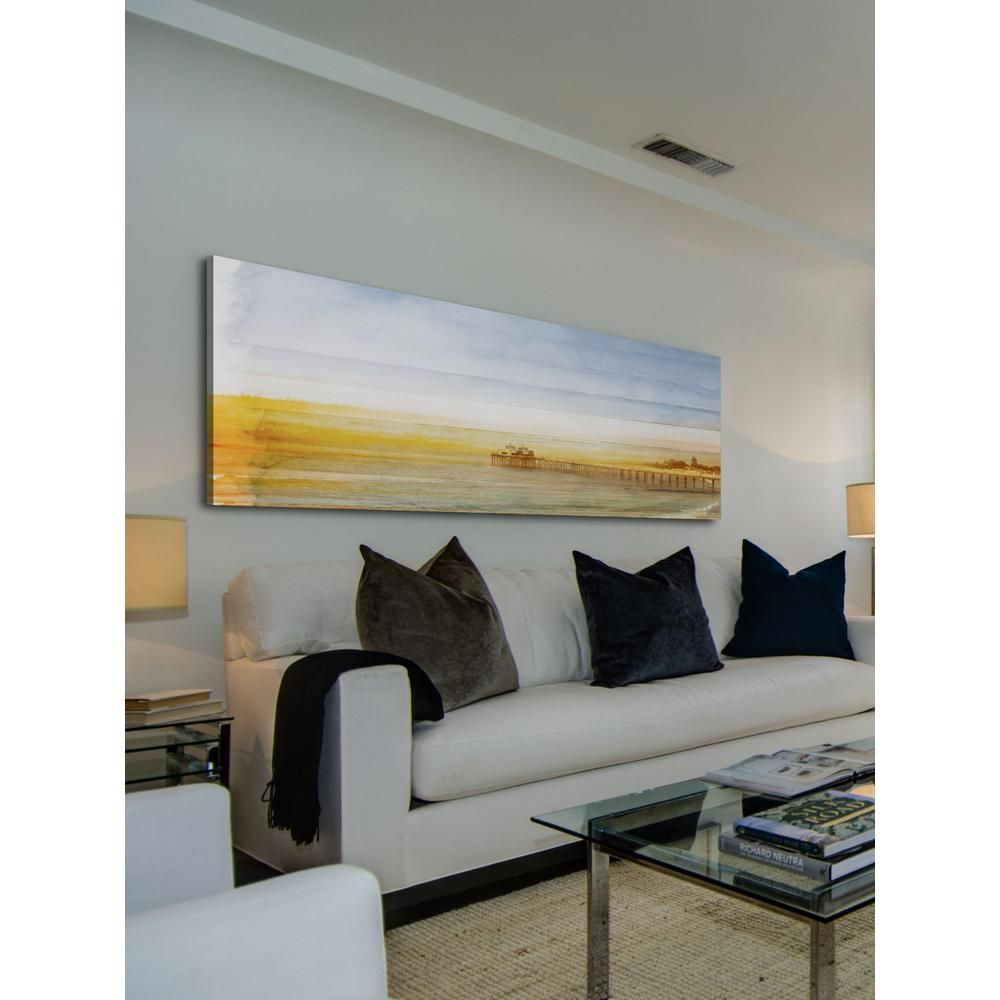 Parvez Michel 10 In H X 30 In W Malibu Pier By Parvez Taj Printed Canvas Wall Art Multi Colored Parvez Taj Aluminum Wall Art Mountain Canvas