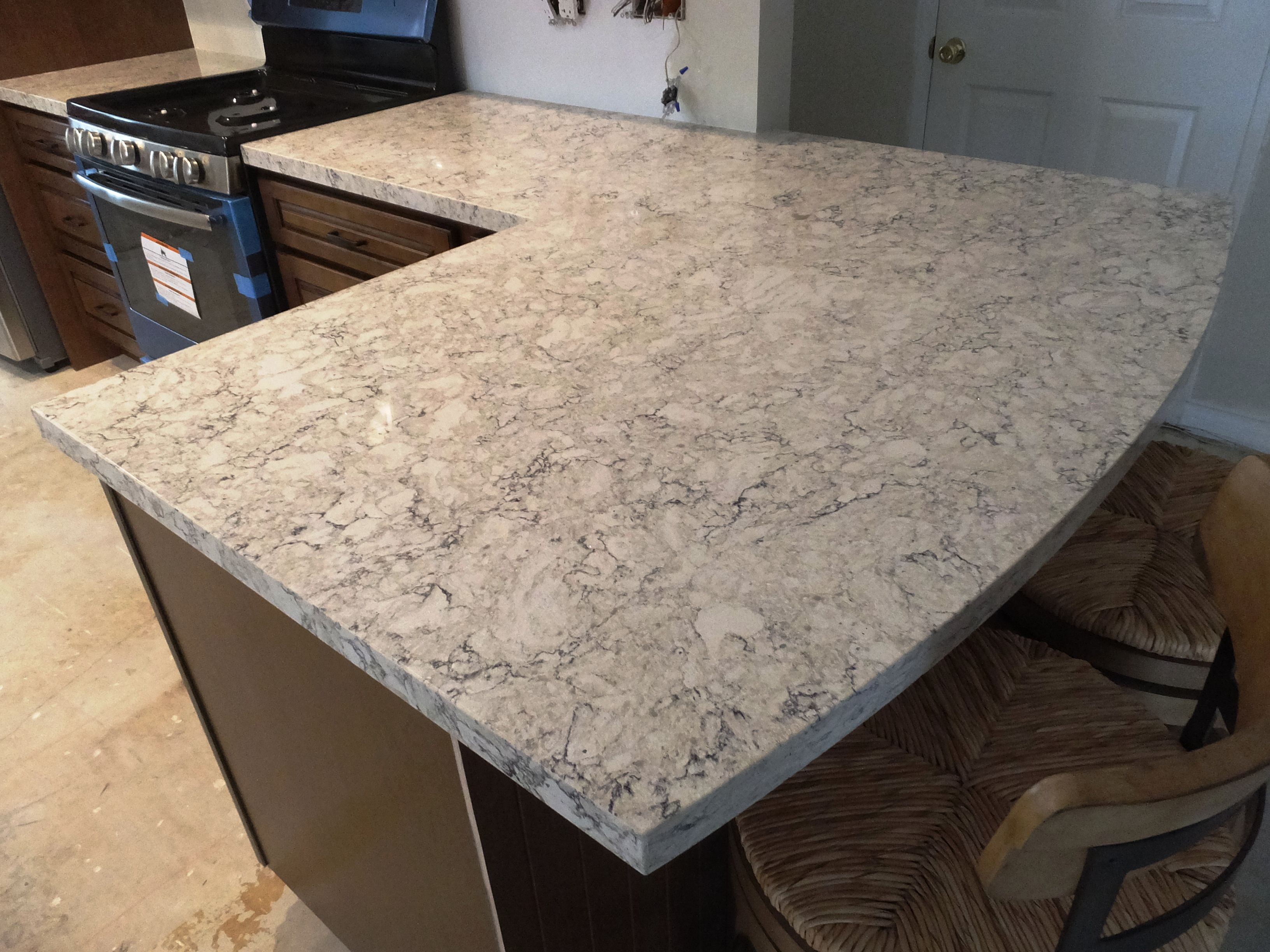 Lg viatera quartz aria clean cut stone bar counter What is the whitest quartz countertop