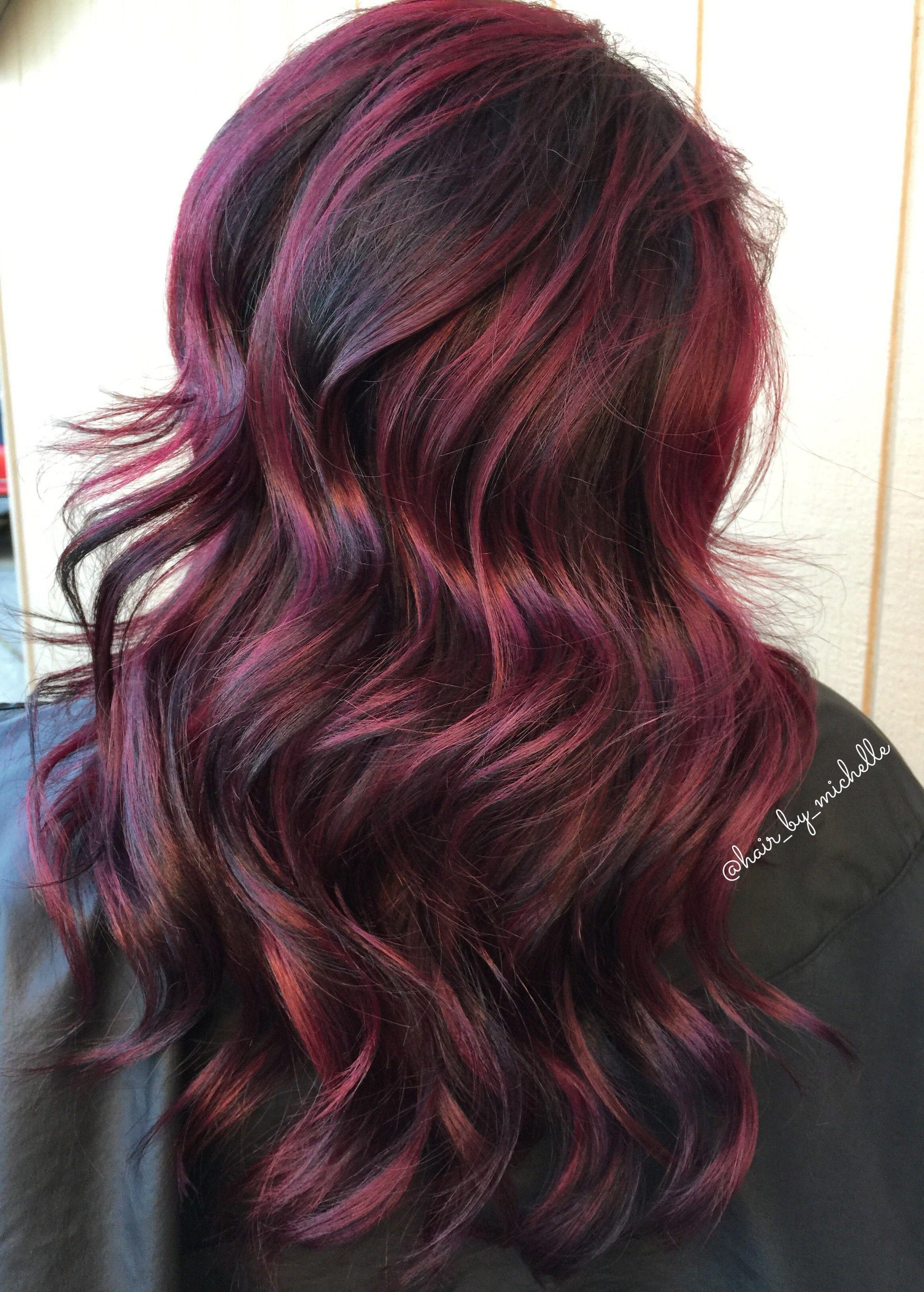 Painted Hair Dark Hair Red Hair Redbalayage Red Roots Hair Red Hair Dark Roots Shadow Roots Hair