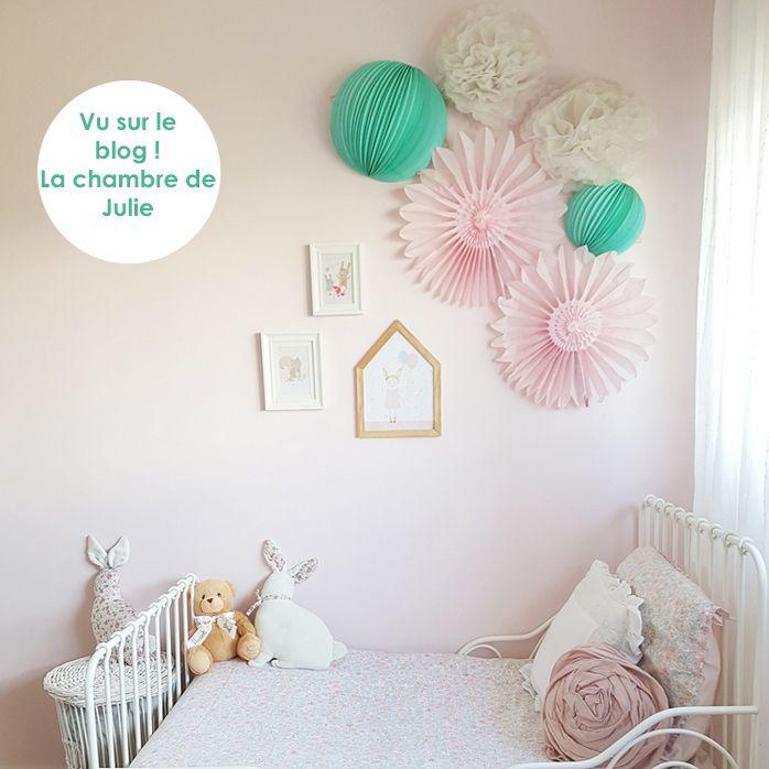 Déco chambre de fille menthe et rose pastel chambre choupi Pinterest