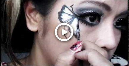 Glitter amp Ice butterfly fairy makeup tutorial Halloween