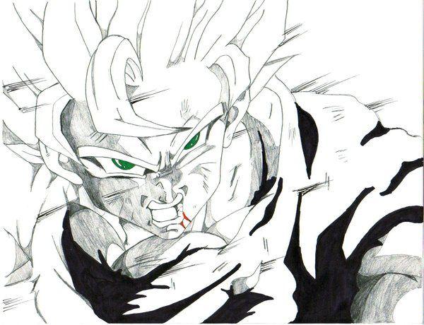 Ssj 2 Goku By Trunks24 Goku Goku Drawing Sketches