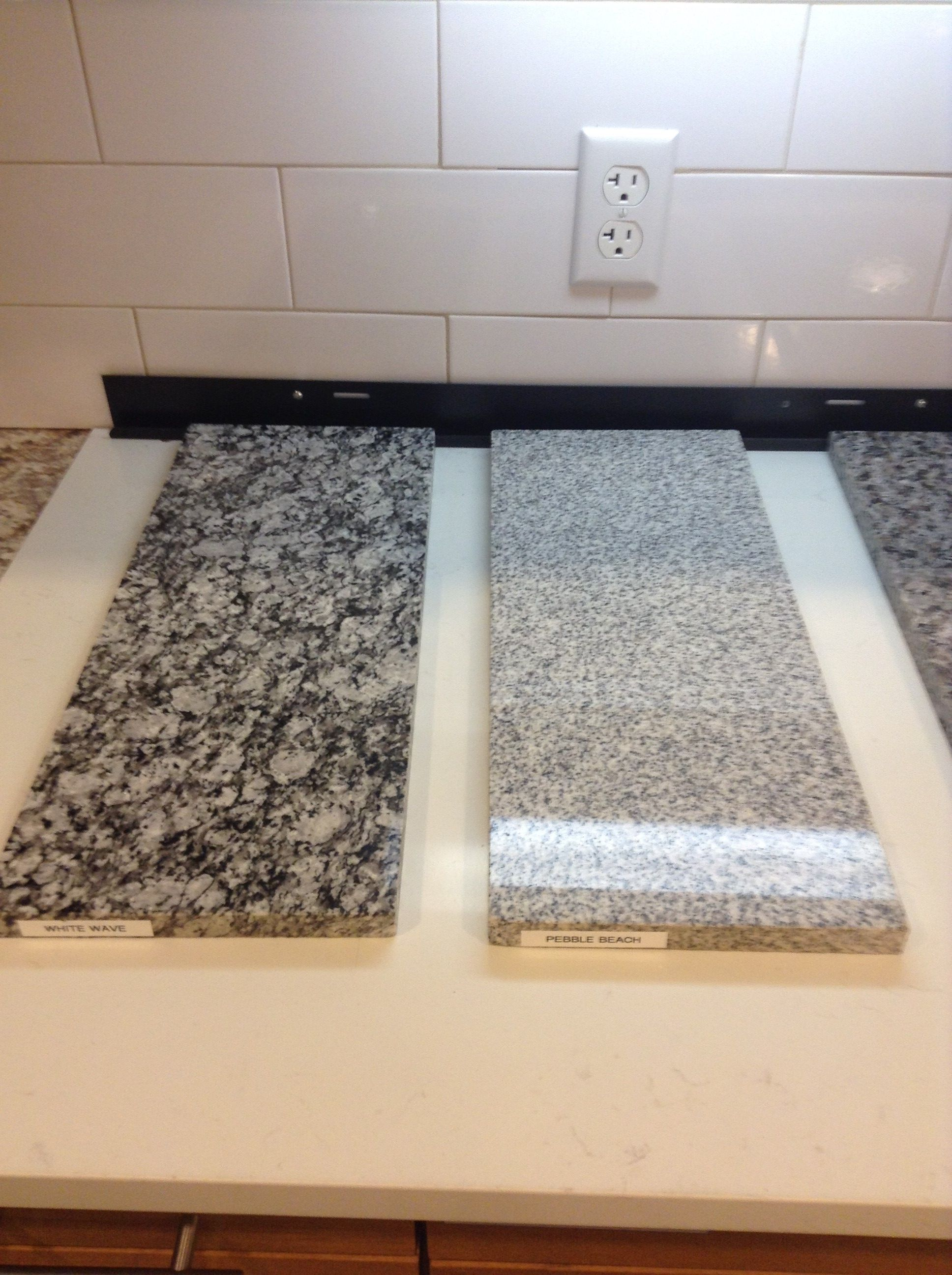 Included Granite Options 2 4 White Wave And Pebble Beach See Options Selection Packet For Included Counterto Granite Options Granite Countertops Countertops