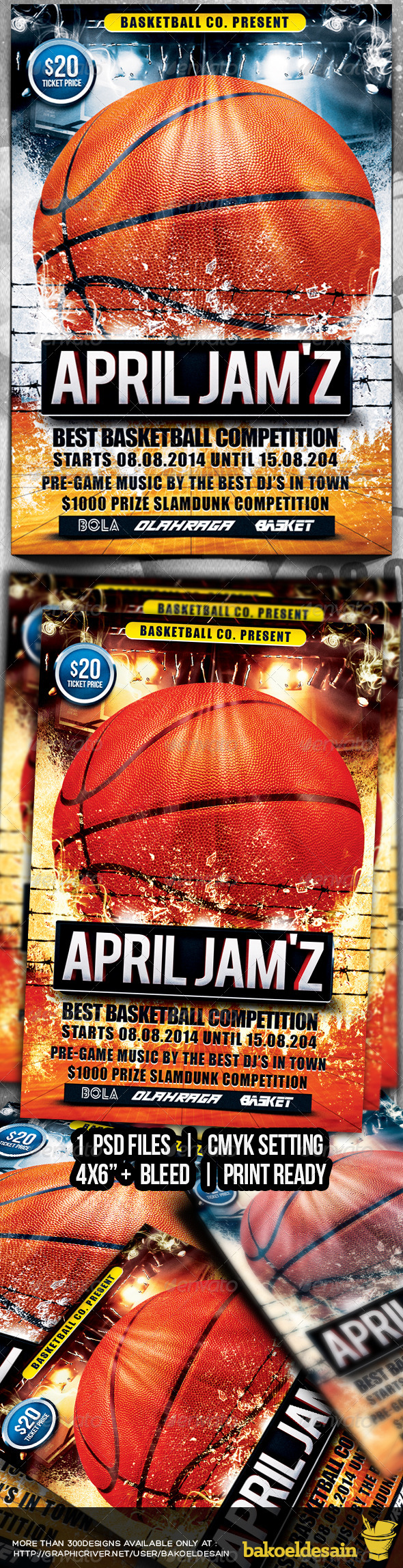 April Jamz Basketball Flyer