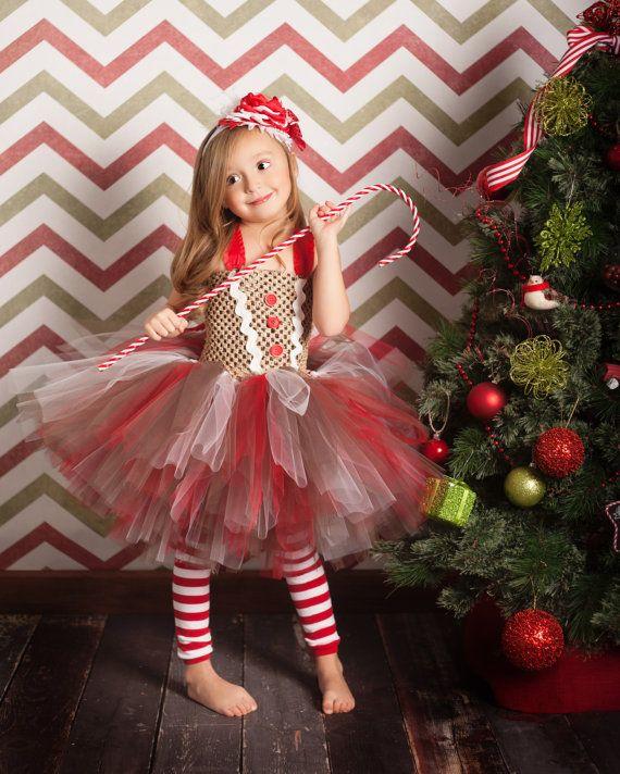 Vestido de niña de pan de jengibre y por lauriestutuboutique ... 753a5ca3cd14