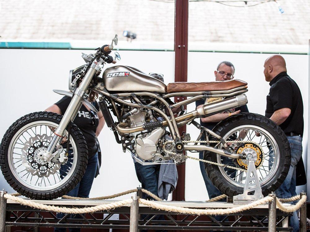 CCM unveil new Spitfire Scrambler http://www.motorcyclenews.com/news/new-bikes/2017/may/ccm-spitfire-scrambler-motorcycle-launch/ #motorcyclenews #motorcycle