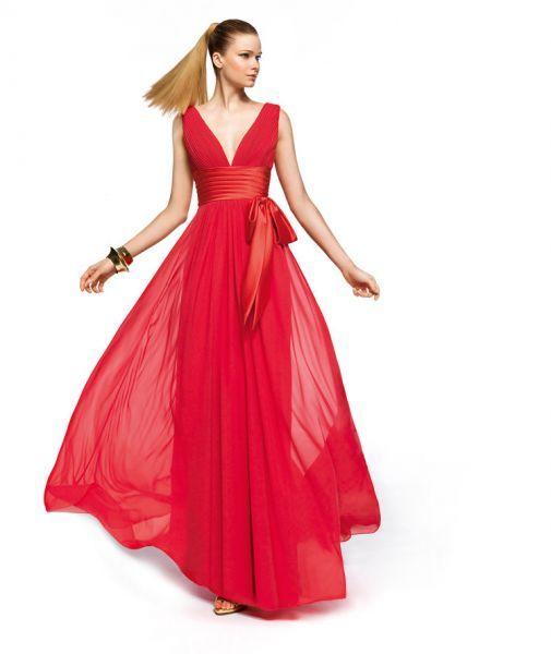 Modelos de vestidos de fiesta largos rojos