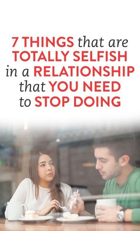 Selfish partner relationship advice