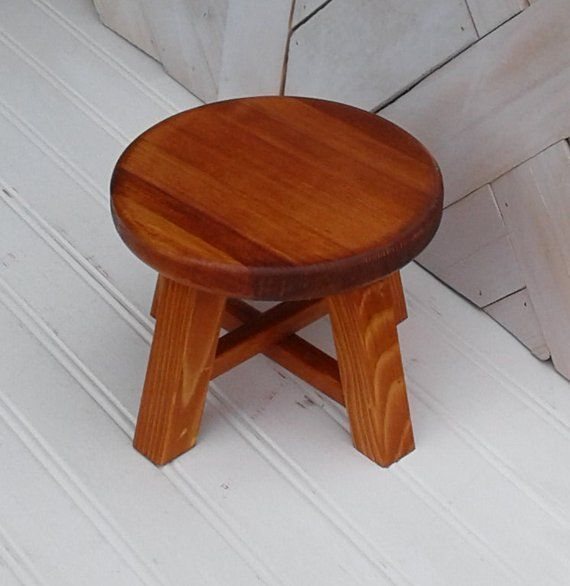 Outstanding Cherry Stained Plant Stand Stool Six Inch Diameter Small Pdpeps Interior Chair Design Pdpepsorg