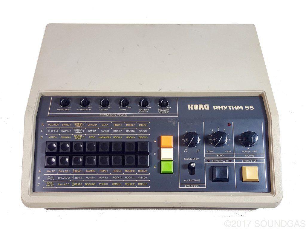 korg rhythm kr 55 our vintage gear drum machine vintage drums drums. Black Bedroom Furniture Sets. Home Design Ideas