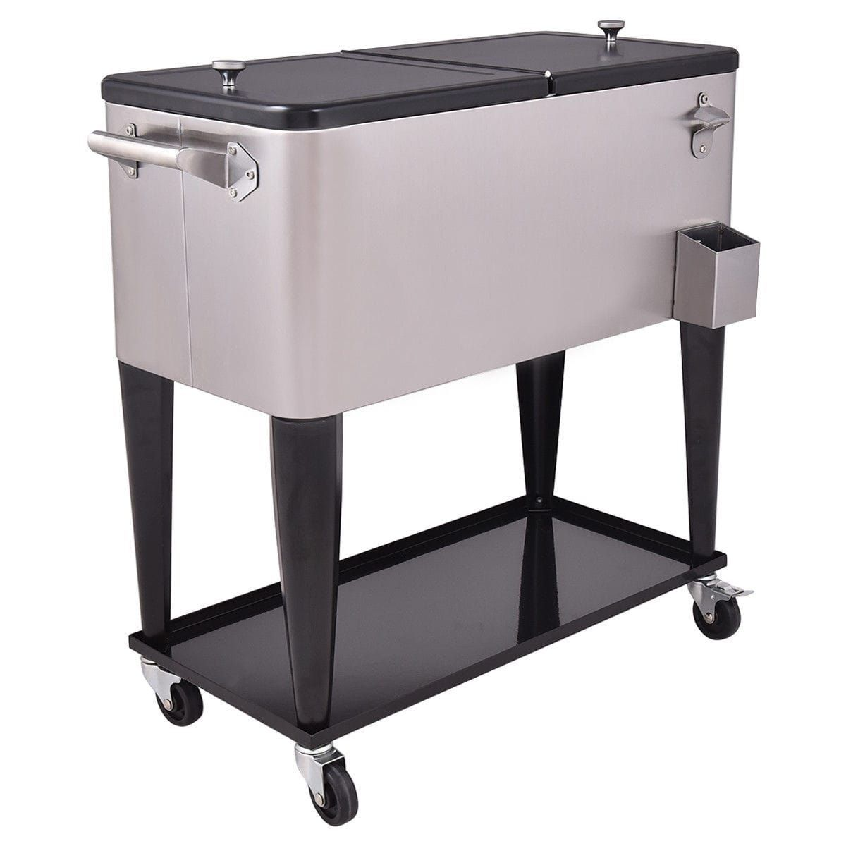 outdoor coolers with patio rolling wheels cooler