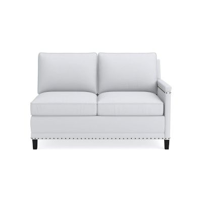 Phenomenal Addison Sectional Right One Arm Loveseat Nailhead Pabps2019 Chair Design Images Pabps2019Com