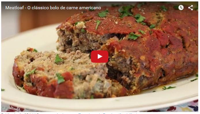 Um clássico da culinária americana! Aprenda em 1a mão esse bolo de carne e faça a festa na sua cozinha!
