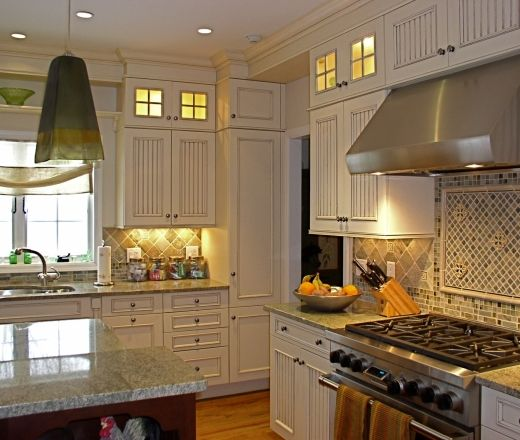 Transitional L Shaped Kitchen Cabinets Ralph Fasano Jr C K D New