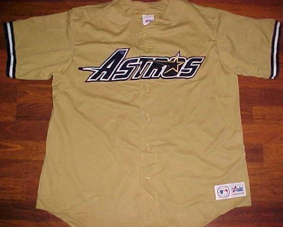 newest f1c41 0ac2e Houston Astros MLB NL West 1994-1999 Scripted Gold Blue ...