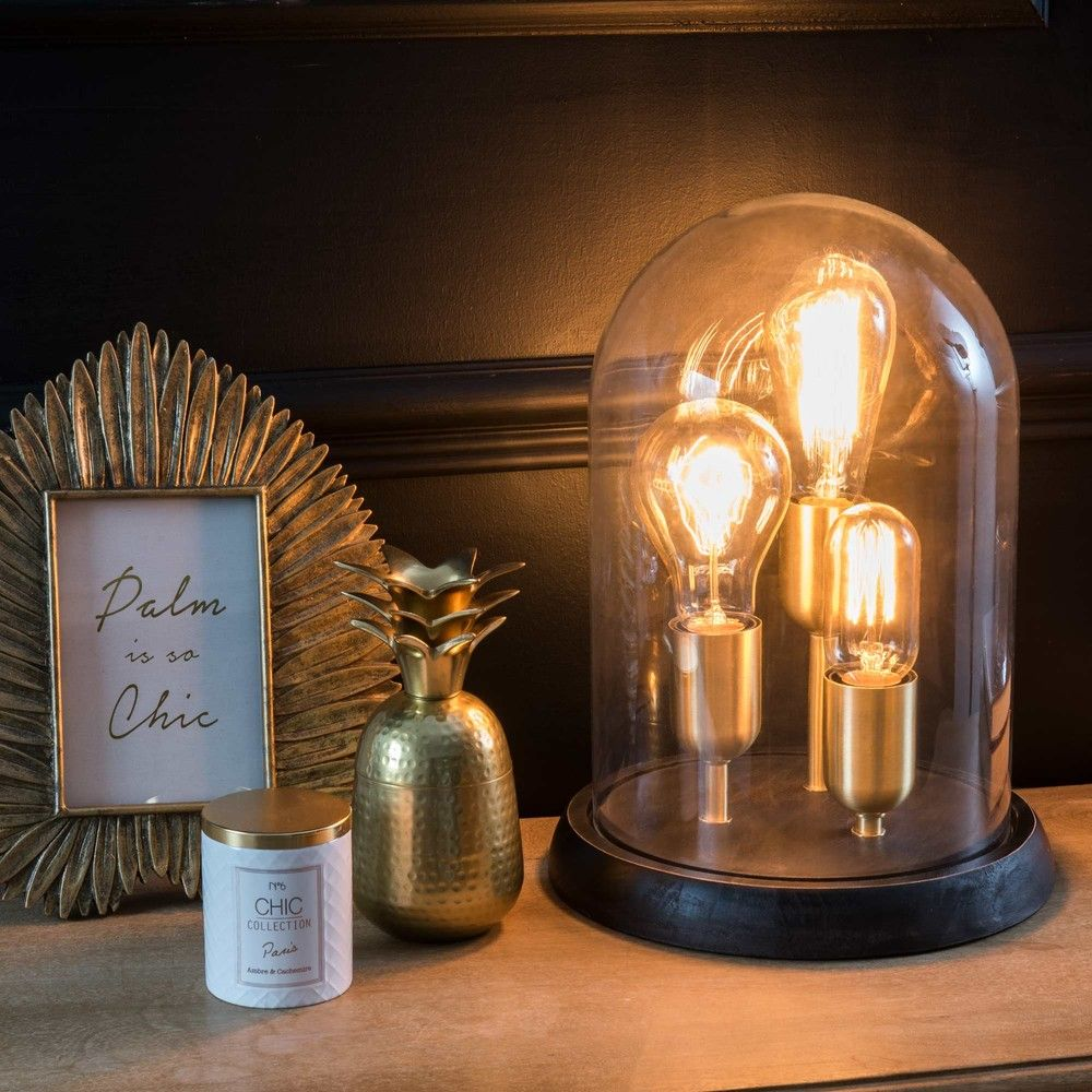 lampe cloche verre maison du monde ventana blog. Black Bedroom Furniture Sets. Home Design Ideas
