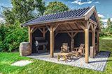 Douglas houten veranda Jort is een top kwaliteit veranda met bering van 400x600cm