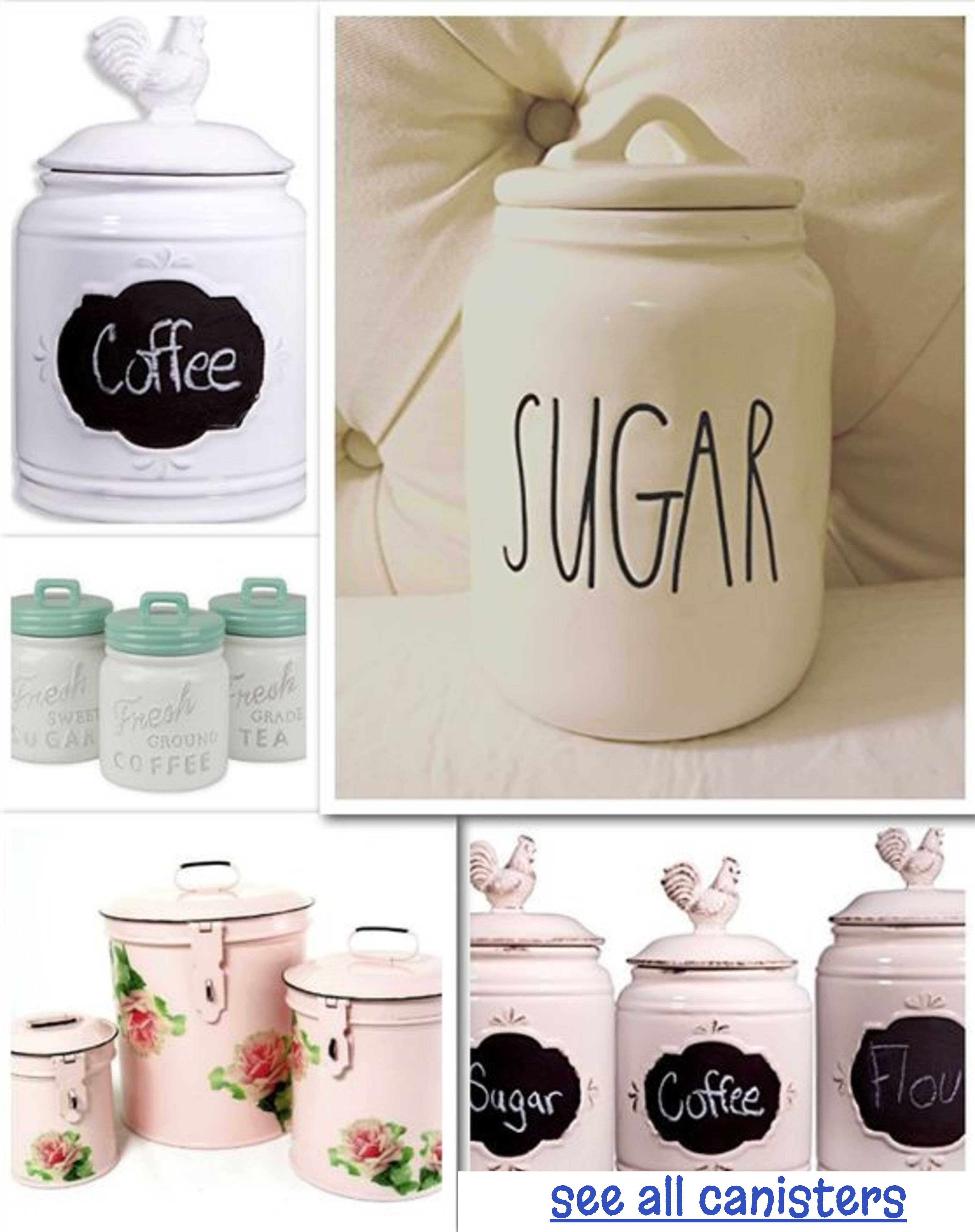 Kitchen canisters and canisters sets for country farmhouse style kitchen